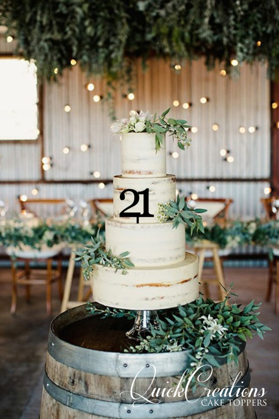 Quick Creations Cake Topper- 21