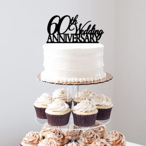 60th Wedding Anniversary Cake Topper