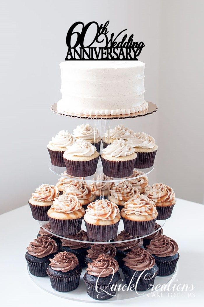 Quick Creations Cake Topper - 60th Wedding Anniversary