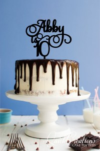 Quick Creations Cake Topper - Abby is 10