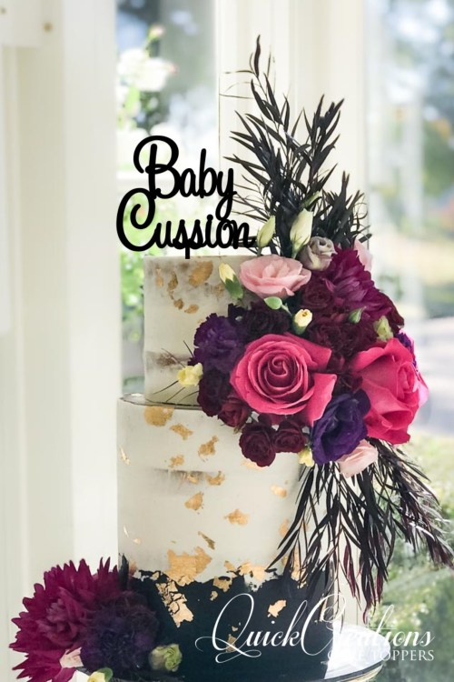 Quick Creations Cake Topper - Baby Cussion