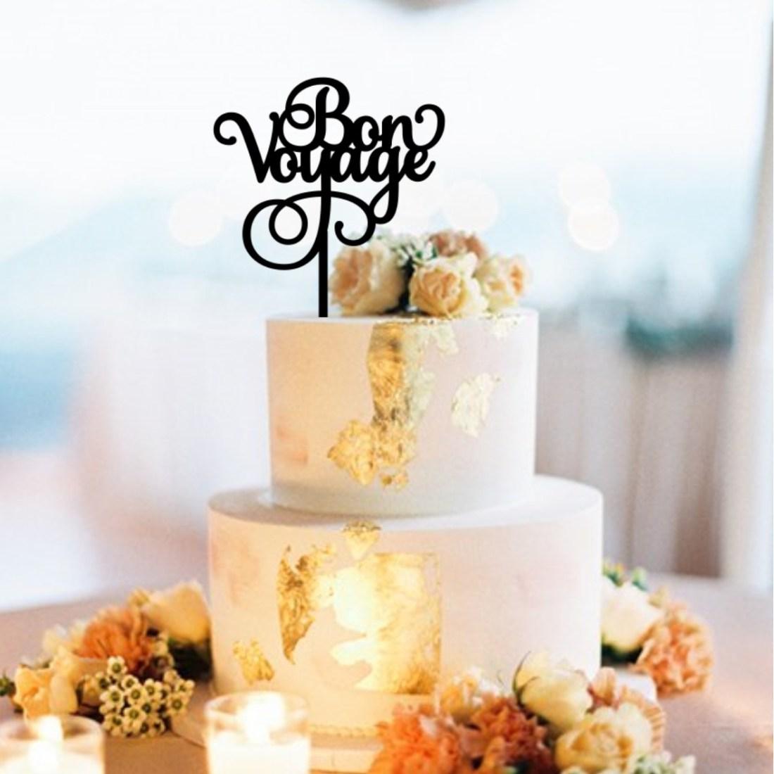 Bon Voyage Cake Topper