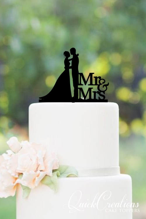 Quick Creations Cake Topper - Bride & Groom Mr & Mrs v2