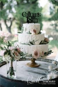 Quick Creations Cake Topper - Callum's 18th