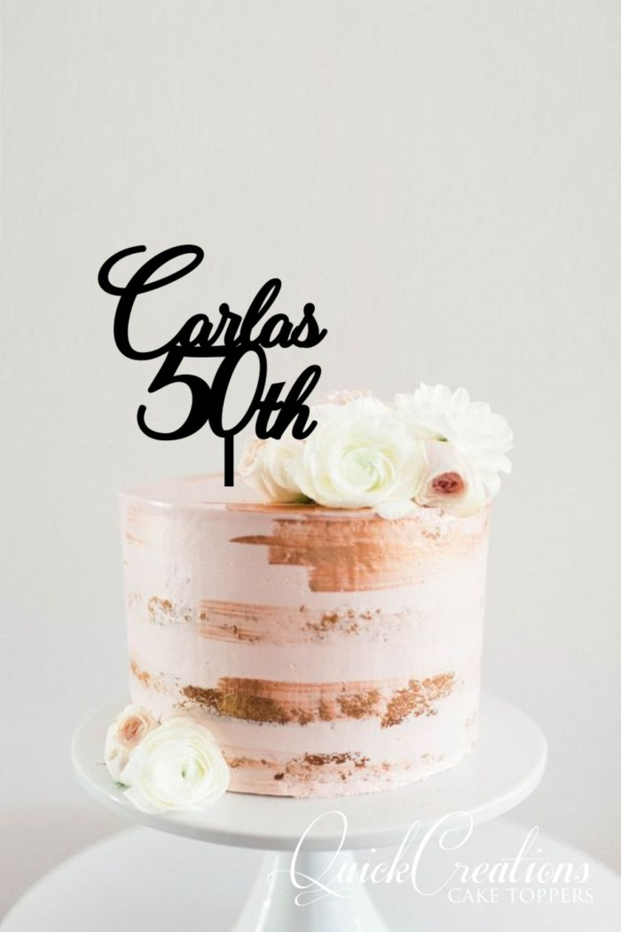 Quick Creations Cake Topper - Carla's 50th