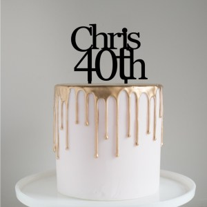 Quick Creations Cake Topper - Chris 40th