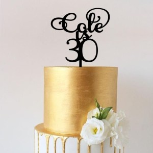 Quick Creations Cake Topper - Cole is Thirty