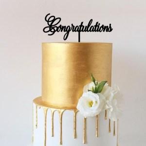 Quick Creations Cake Topper - Congratulations