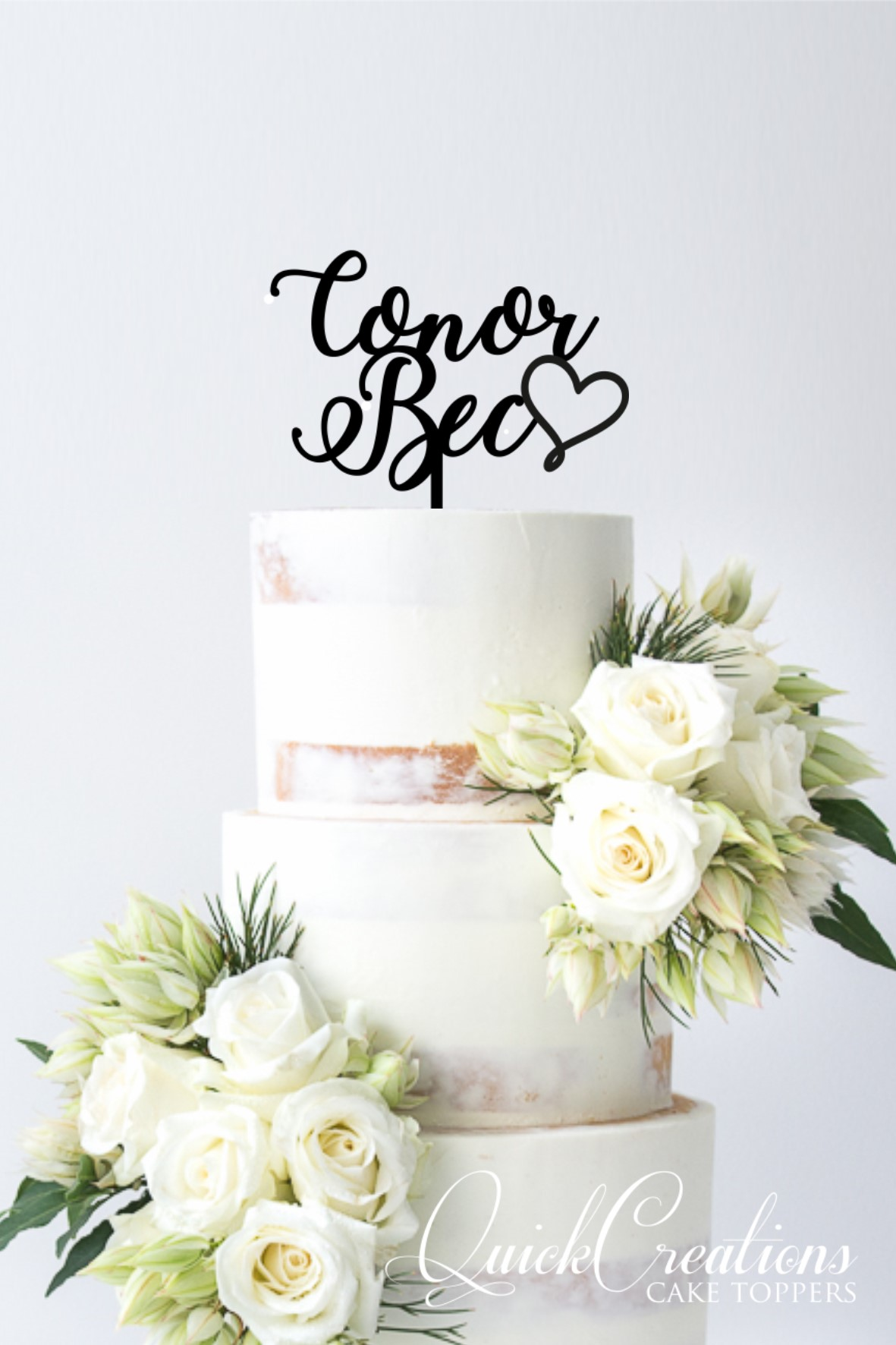 Quick Creations Cake Topper - Conor Heart Bec