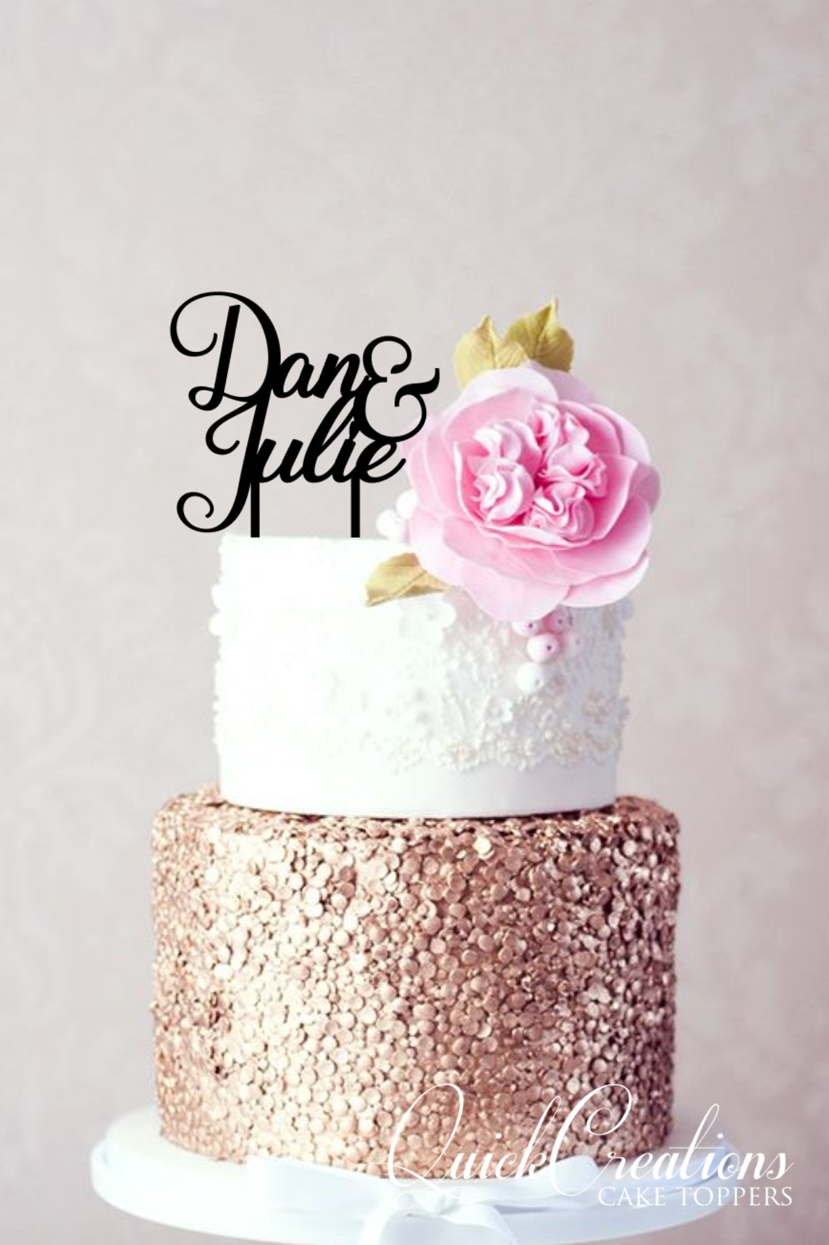 Quick Creations Cake Topper - Dan & Julie