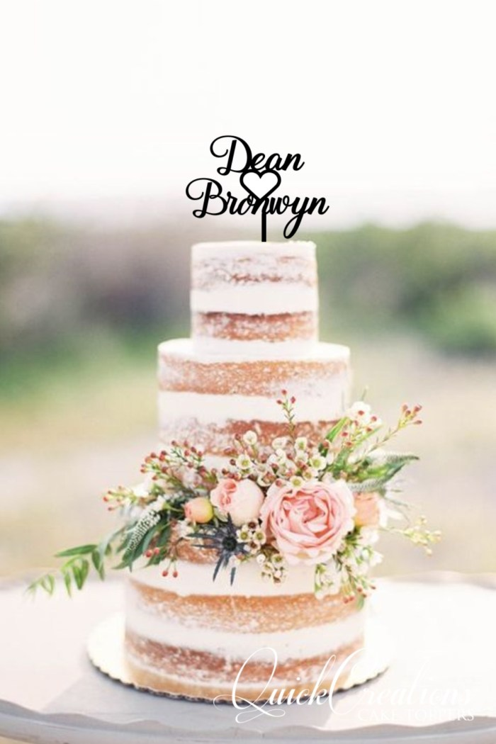 Quick Creations Cake Topper - Deon & Bronwyn