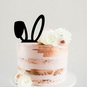 Easter Bunny Ears Cake Topper