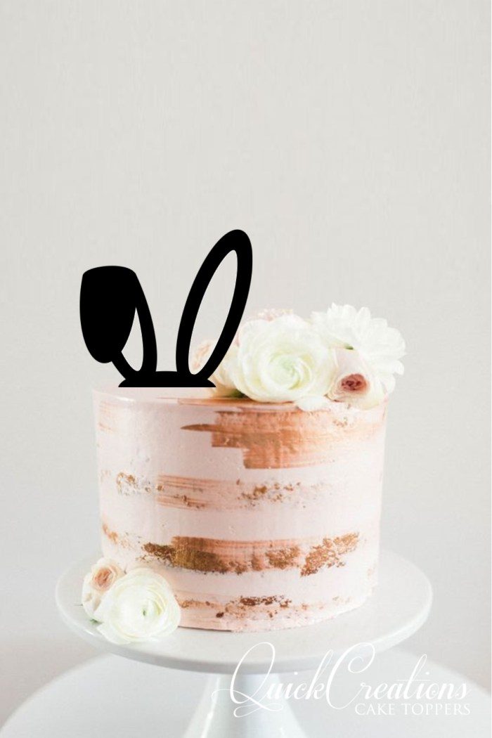 Quick Creations Cake Topper - Easter Rabbit Ears