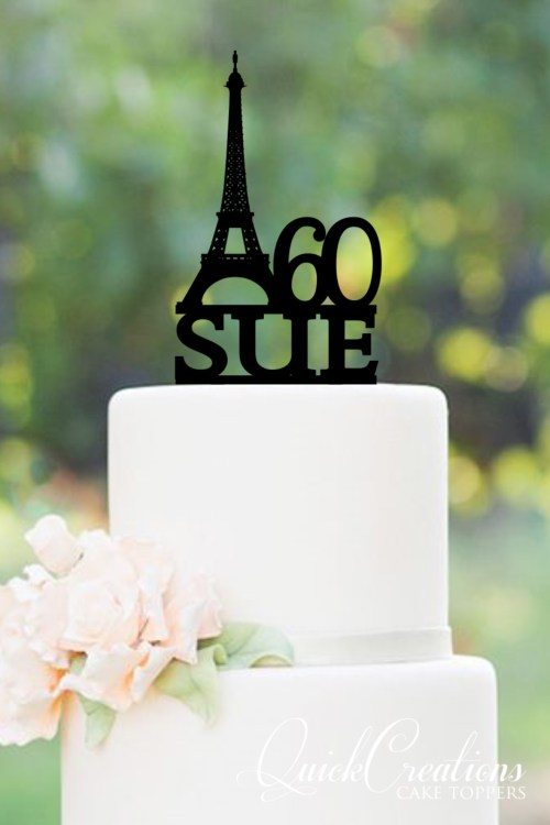 Quick Creations Cake Topper - Eiffel Tower 60 Sue