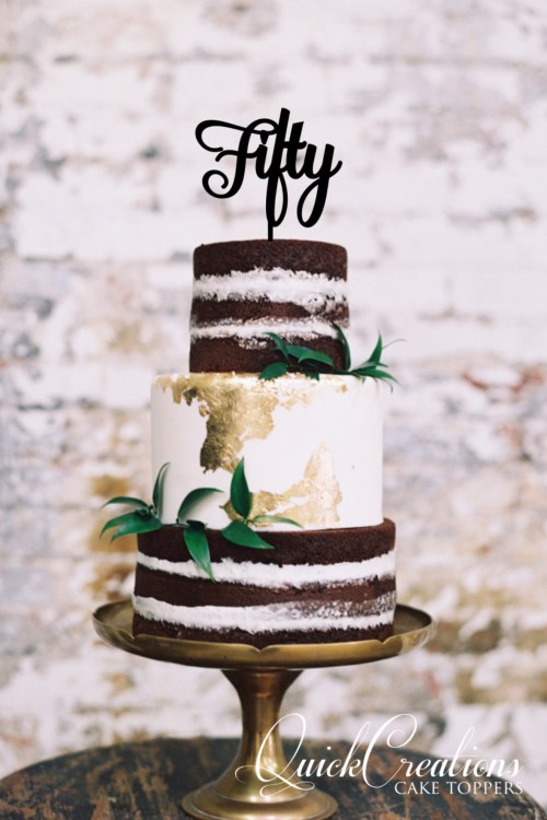 Quick Creations Cake Topper - Fifty