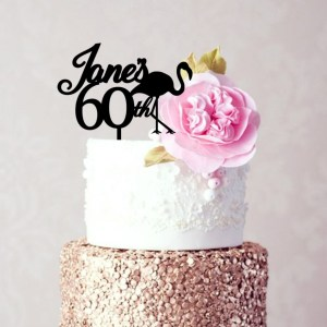 Quick Creations Cake Topper - Flamingo Jane's 60th