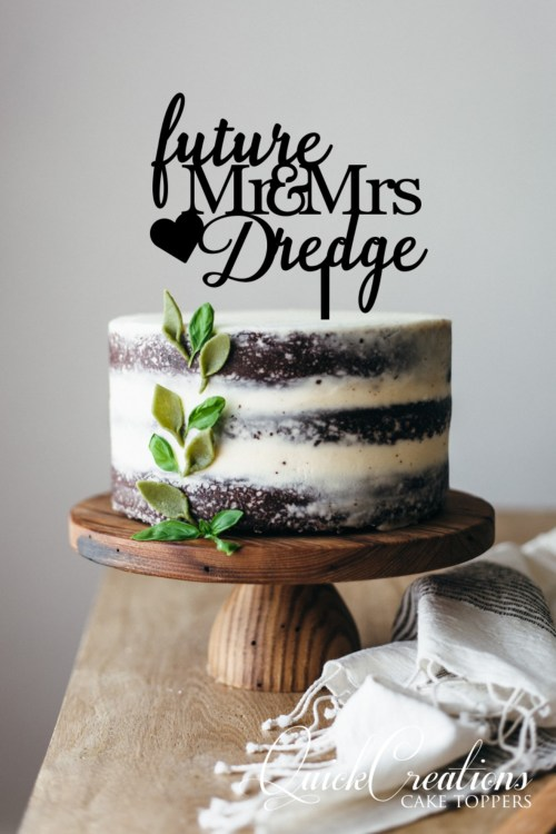 Quick Creations Cake Topper - Future Mr & Mrs Dredge Heart