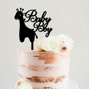Baby Boy or Girl Giraffe Cake Topper