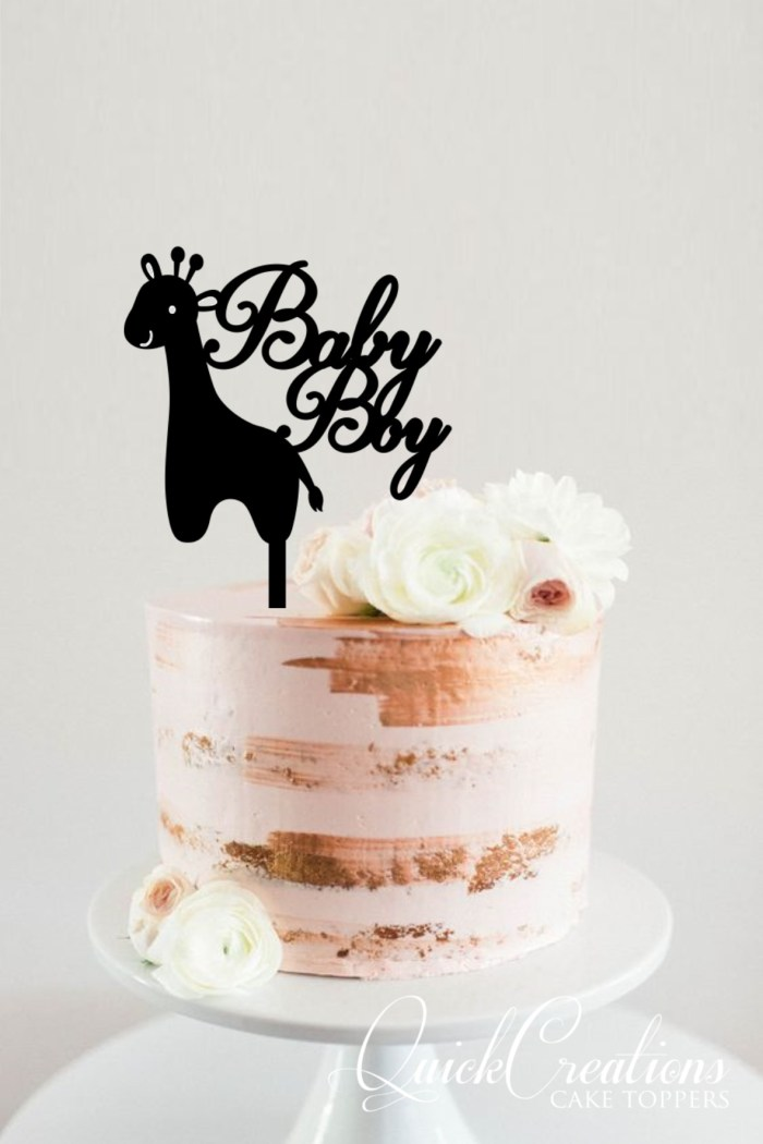 Quick Creations Cake Topper - Giraffe Baby Boy