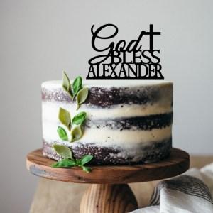 God Bless Personalised Cake Topper