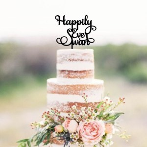 Quick Creations Cake Topper - Happily Ever Swan