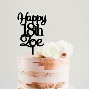 Quick Creations Cake Topper - Happy 18th Zoe
