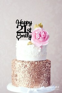 Quick Creations Cake Topper - Happy 21st Emily