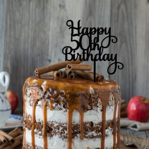 Quick Creations Cake Topper - Happy 50th Birthday