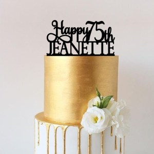 Quick Creations Cake Topper - Happy 75th Jeanette