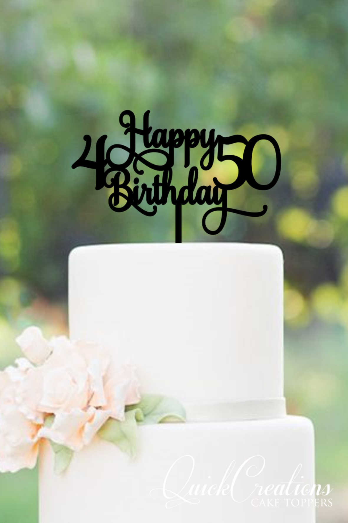 Pleasant Joint Ages Happy Birthday Cake Topper Quick Creations Personalised Birthday Cards Veneteletsinfo