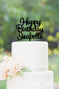 Quick Creations Cake Topper - Happy Birthday Isabelle