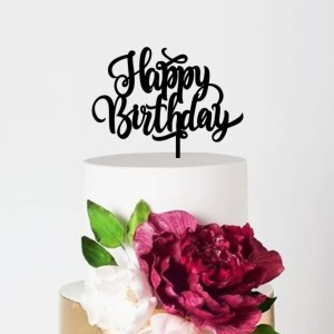 Quick Creations Cake Topper - Happy Birthday v4
