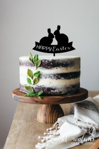 Quick Creations Cake Topper - Happy Easter Bunnies