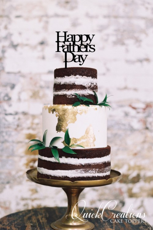 Quick Creations Cake Topper - Happy Fathers Day v2