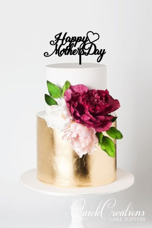 Quick Creations Cake Topper - Happy Mothers Day Heart
