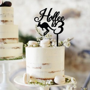Quick Creations Cake Topper - Holly is 3