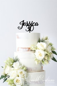 Quick Creations Cake Topper - Jessica 30