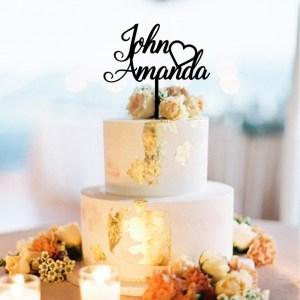 Quick Creations Cake Topper - John Heart Amanda