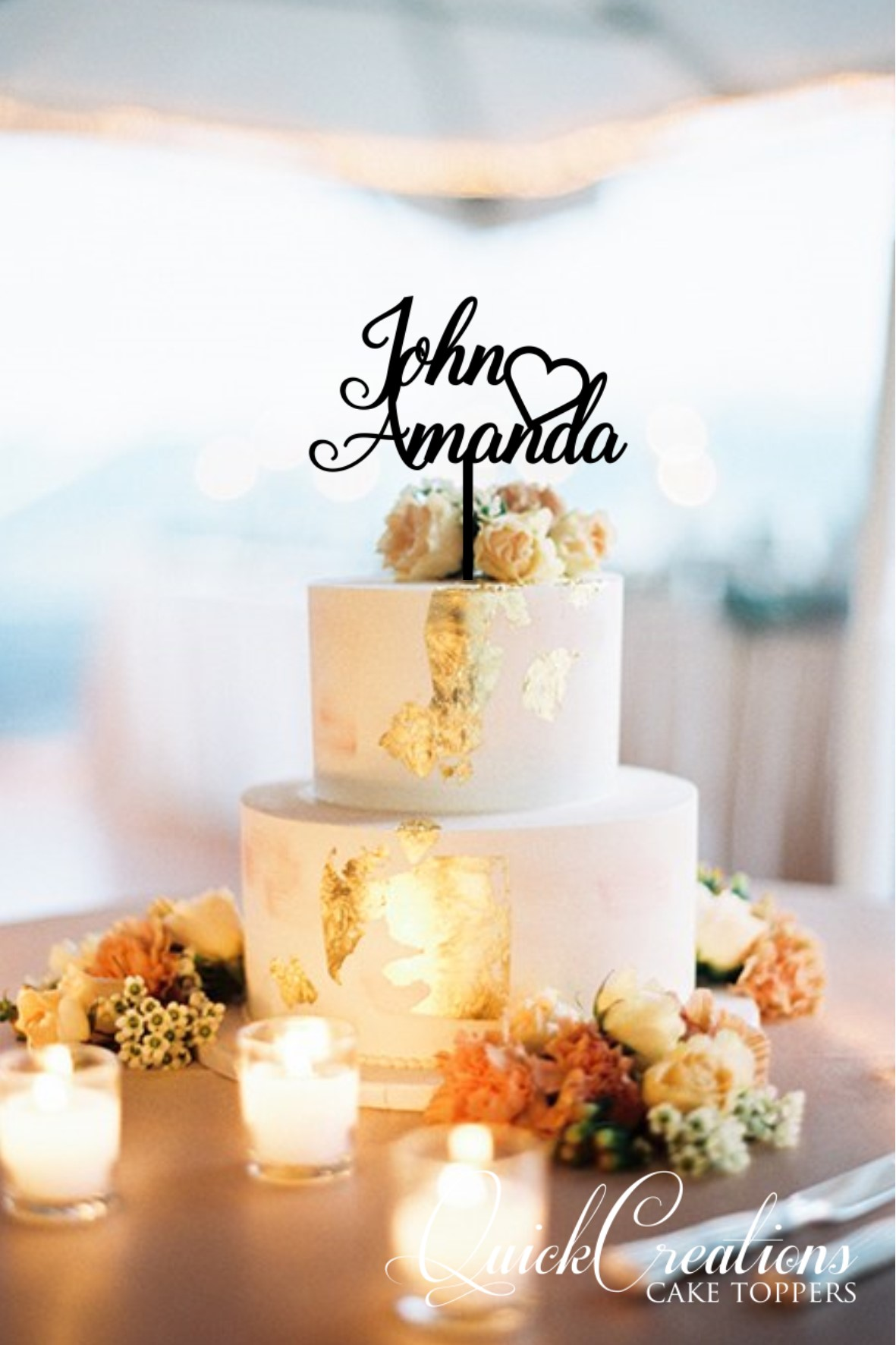 Quick Creations Cake Topper - John Heart Amanda