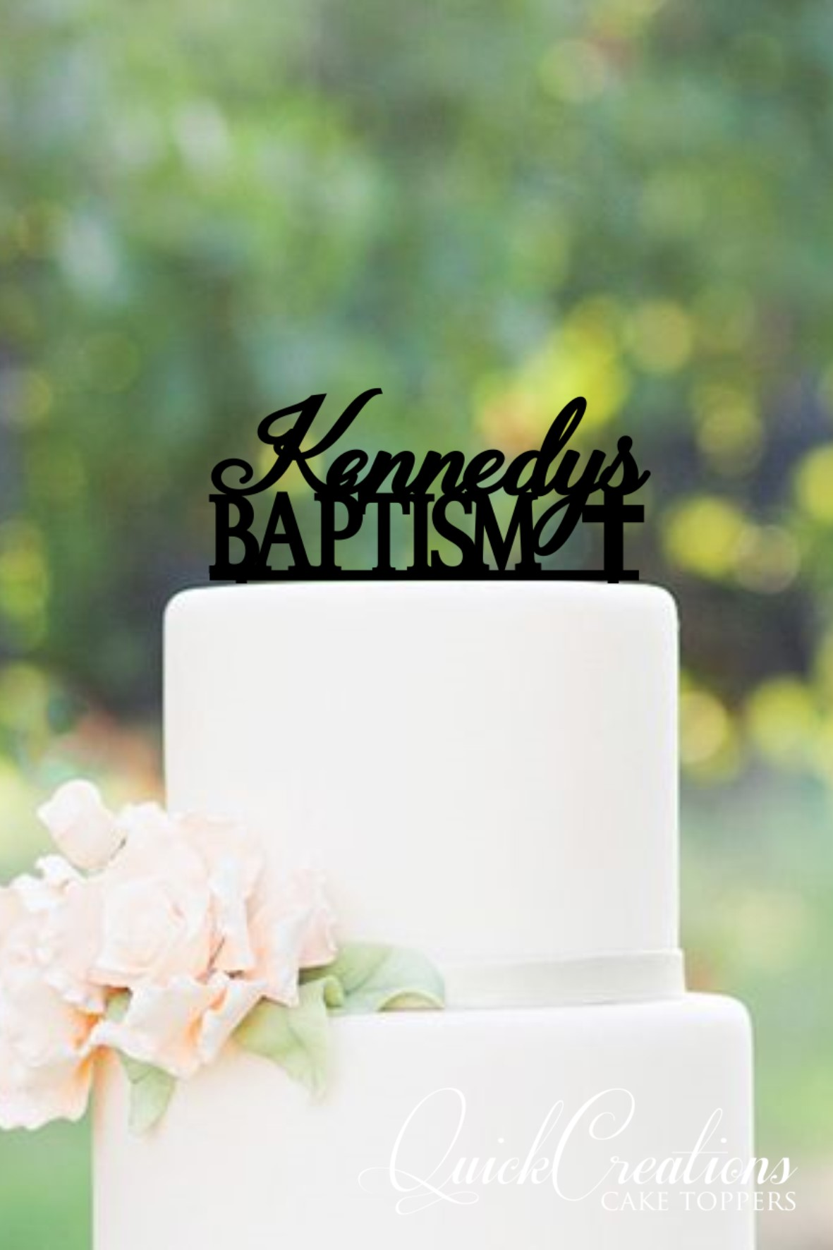 Personalised Baptism Cake Topper