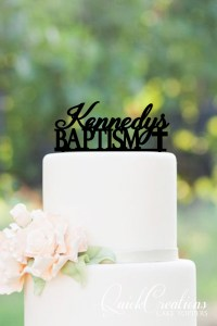 Quick Creations Cake Topper - Kennedy's Baptism Cross