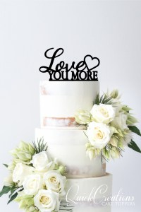 Quick Creations Cake Topper - Love You More