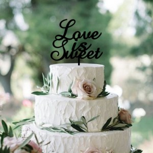 Quick Creations Cake Topper - Love is Sweet