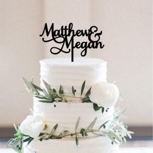 Quick Creations Cake Topper - Matthew & Megan