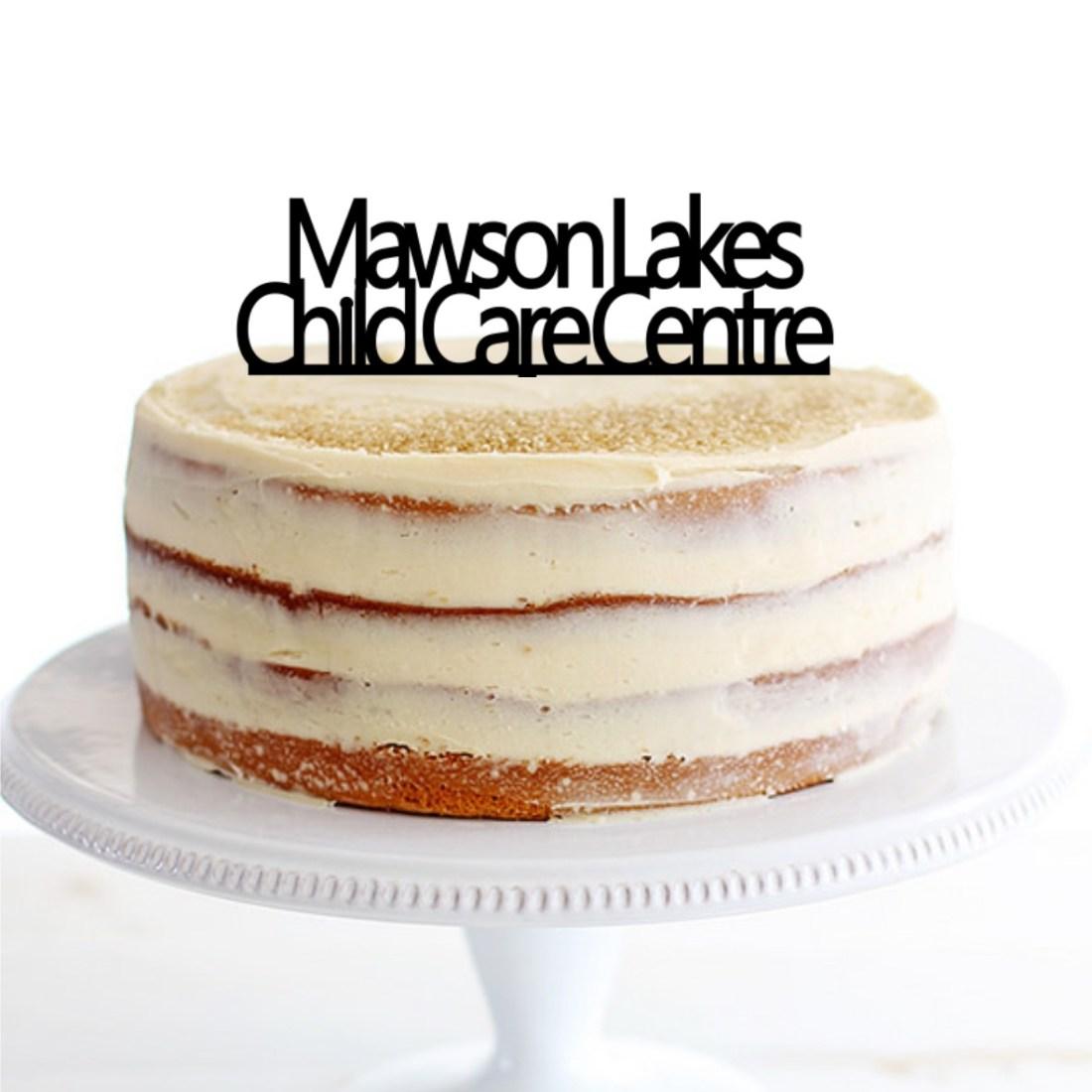 Child Care Centre Cake Topper