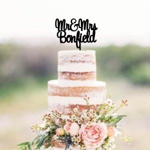 Quick Creations Cake Topper - Mr & Mrs Bonfield
