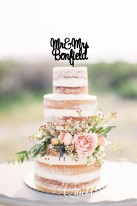 Quick Creations Cake Topper - Mr & Mrs Bonfield