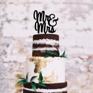 Quick Creations Cake Topper - Mr & Mrs Cursive