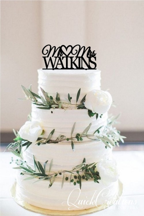 Quick Creations Cake Topper - Mr & Mrs Watkins