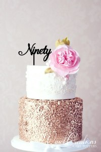 Quick Creations Cake Topper - Ninety